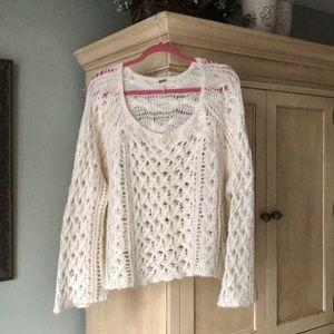 Free People Open Weave Sweater